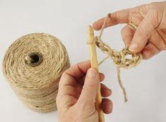 Have you noticed that natural jute decor is bang on trend right now? In this tutorial, you'll learn how to crochet the rounds and create a stunning contrast between the natural jute and metallic. Coaster Crafts, Diy Coasters, Jute, Wall Hanging Crafts, Weaving Art, Diy Home Crafts, Learn To Crochet, Knitting Yarn, Craft Gifts