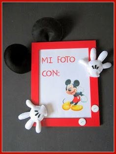 Marco de fotos Fieltro Mickey Mouse by ChikiPol