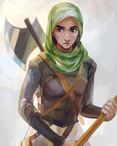 A blessed Eid al-Fitr to my Muslim readers! To celebrate, here is Viria's take on our favorite Valkyrie, Samirah al-Abbas!