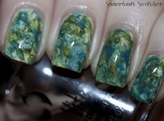 Samarium's Swatches: Water Color Nails Mani