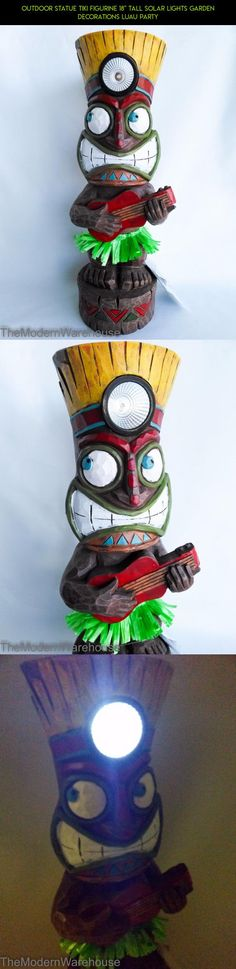 "Outdoor Statue Tiki Figurine 18"" Tall Solar Lights Garden Decorations Luau Party #drone #parts #kit #products #racing #decor #plans #camera #outdoor #tiki #tech #shopping #technology #gadgets #fpv"