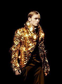men in gold  #fashion