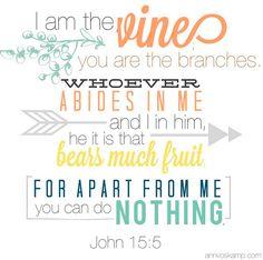 John 15.5 memory verse Ann Voskamp Jesus Project 2014