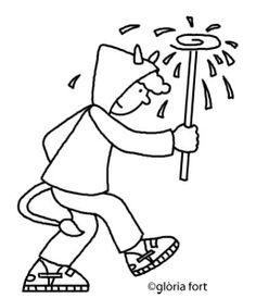 Diables, Festa Major_Vilanova i la Geltrú   glòria fort _ illustration Besties, Crafts For Kids, Arts And Crafts, What Inspires You, Colouring Pages, Folklore, Smurfs, Illustration, Scary