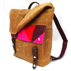 READY TO SHIP Quilted Electric Prism Waxed Canvas by WoolyBison, $185.00