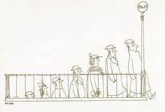 Saul Steinberg fue un magnífico ilustrador y dibujante