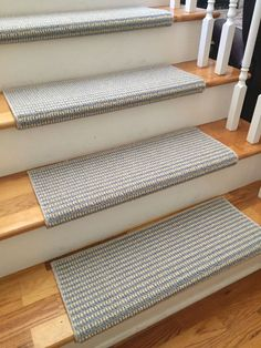 Sunburst Morning Sky New Zealand Wool!-TRUE Bullnose™ Carpet Stair Tread Runner Replacement for Style, Comfort & Safety (Sold Each) Carpet Stair Treads, Carpet Stairs, Wool Carpet, Grey Carpet, Brown Carpet, Inspiral Carpets, Hallway Carpet Runners, Stair Runners, Morning Sky