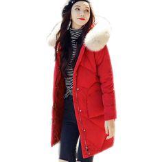 2a55973269fb high-quality white duck down coat female Ultra Light Down Jacket Women  Winter Coats Warm