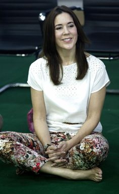 Denmark's Crown Princess Mary is currently on a three-day-visit in Myanmar, 10.01.14