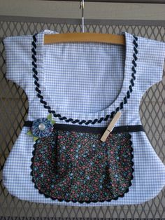 Sweet One of a Kind Double Pocket Clothespin Bags by sunshineidaho