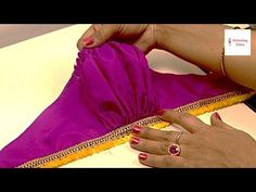 How to make पफ स्लीव्स, Puff sleeves designs, Puff sleeves cutting and stitching, Puff sleeve Blouse New Blouse Designs, Blouse Back Neck Designs, Bridal Blouse Designs, Salwar Suit Neck Designs, Salwar Designs, Sleeves Designs For Dresses, Sleeve Designs, Party Wear One Piece, Stitching Dresses