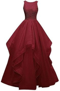 A-Line Prom Dresses #A-LinePromDresses, 2018 Prom Dresses #2018PromDresses, Burgundy Prom Dresses #BurgundyPromDresses