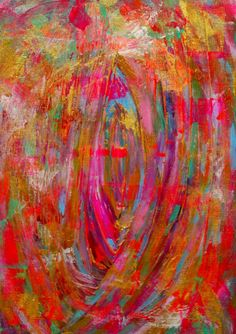Colorful Abstract Painting Original Acrylic Small by Jimarieart