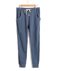 Blue Loose Sporting Pants
