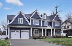 Beautiful house, deep ocean hardie board siding http://premierdesigncustomhomes.com/670-carleton-road-westfield/