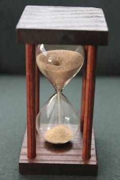 Reloj de arena artesanal.