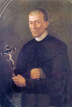 """With a crucifix and scourge on his hands. It was made by Mariano Lanziani and kept in Lauria's town council. Likely that's a derivative artwork of another one created in the late of 19th century by an unknown artist and kept into Lauria's mother church of """"san Nicola di Bari""""."""