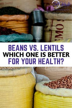 """Beans and lentils have been a great source of plant-based protein since the beginning of time. Many people lump both beans and lentils into one category. You are probably asking yourself """"Is one better or are they just the same thing? Which one is right for me?"""". Let's talk about it! #beans #lentils #vegetarian #vegan #healthyrecipes #healthyliving #beanrecipe #lentilrecipe #awalkmyway #health"""