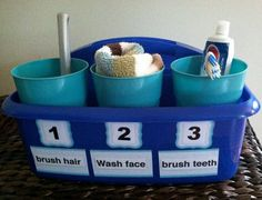 I need to do this in the bathroom -- 12 Ridiculously Simple Hacks Every Parent N. I need to do this in the bathroom -- 12 Ridiculously Simple Hacks Every Parent Needs In The Morning Kids And Parenting, Parenting Hacks, Do It Yourself Organization, Summer Science, Organisation Hacks, School Organization, Classroom Organisation, Visual Schedules, Daily Schedules