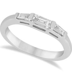 wedding band with tapered side baguettes - Google Search