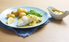 Lettsaltet torsk med ertepuré