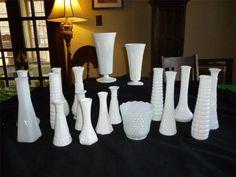 Vintage Lot 18 Milk Glass Bud Vases~E.O. Brody~Hoosier Glass~ Wedding ~Shower #MilkGlass