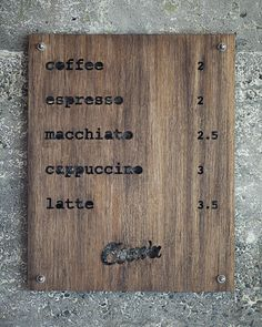 wooden laser-cut menu - great!