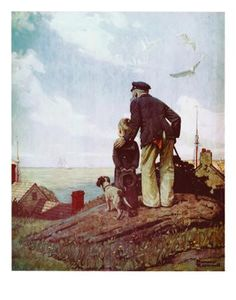 Outward Bound Art Print by Norman Rockwell at Art.com