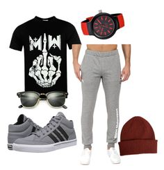 """My Sisters BF"" by barbierollins on Polyvore featuring adidas, Lacoste, Paul Smith, Ray-Ban, Puma, men's fashion and menswear"