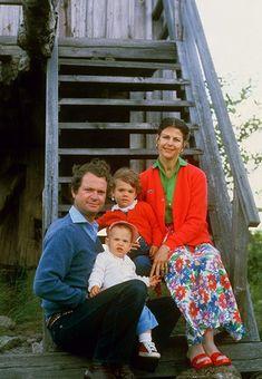 King Carl XVl Gustav, Queen Silvia, Princess Victoria, Prince Carl Philip