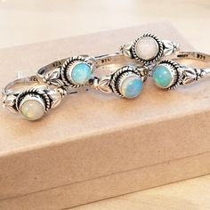 Once Upon a Time - Natural Opal & Sterling Silver Ring