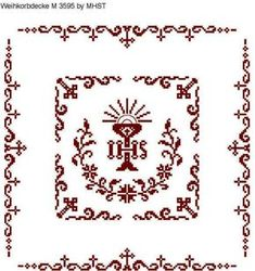 Catholic Crafts, Altar Cloth, Cross Patterns, Knitting Projects, Projects To Try, Cross Stitch, Embroidery, Crochet, Medici