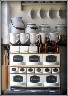old spice jars - my shabby white home