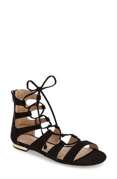Topshop Lace-Up Gladiator Sandal (Women) available at #Nordstrom