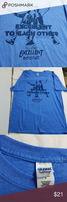 Bill and Ted's Excellent Adventure Shirt New Bill and Ted's Excellent Adventure Shirt Blue .  Loot Crate Exclusive  Size Lrg SOFT BLEND Condition: new, no tags See photos for details please zoom in! loot crate Shirts Tees - Short Sleeve
