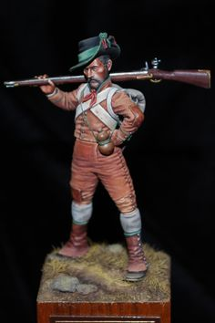 Algarve Volunteer, 1809 by Bill horan Military Figures, Military Art, Military History, Lead Soldiers, Toy Soldiers, Mandan Indians, Fife And Drum, Miniature Figurines, Napoleonic Wars