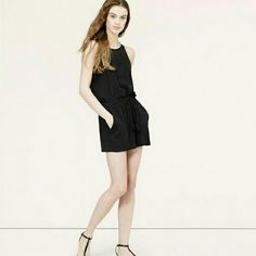 Black romper Cute black romper. Detail on front and bottom of shorts. LOFT Other