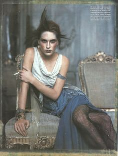 """Erin Wasson in """"Pale Shades"""" by Paolo Roversi for Vogue Italia, March 2002."""