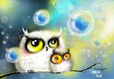 Owls by bemain Pinned by www.myowlbarn.com