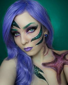 MERMAIDS AND MERMEN UNITE! Show me your best mermaid looks using the hashtag #mothqueenmakeup this is my updated mermaid look! Wig is violetta by @lush_wigs I also used @limecrimemakeup zodiac glitters libra on the eyes and Pisces on the scales! I used @makeuprevolution lip lacquer in velvet depravity and finally my new @morphebrushes 35c palette for all the beautiful colours you see!! #limecrime #mermaidmakeup #mermaidhair #mermaid #lushwigs #morphebrushes #morphe35c #makeup #makeupartist…