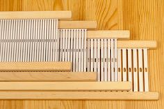 "For use with the Schacht Cricket and Schacht Flip Rigid Heddle Looms. Reeds are priced by weaving width. Please select the size you wish to purchase for pricing. 10"" & 15"" wide reeds fit the Cricket L"