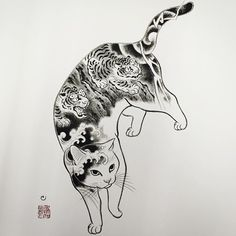 One more! #monmoncat#monmoncats #horitomo#catconla #catlover#catart#catlovers #cattattoo#japanesestyle#japneseart Tattoo Gato, Tattoo Drawings, Tattoo Ink, Arm Tattoo, Hand Tattoos, Black Cat Tattoos, Asian Tattoos, Oriental Cat, Japanese Cat