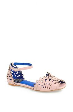 Style alert! Cut-out flats are a favorite this season.