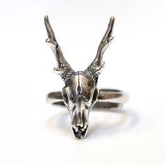 Silver Stag Deer Skull Ring Antler Animal 427 by mrd74 on Etsy https://www.etsy.com/listing/200248200/silver-stag-deer-skull-ring-antler