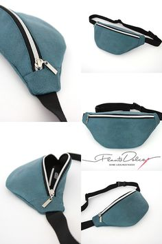 Belly bag/Hipbag/Belt bag/Women/Turquoise Silver/Simple/Faux leather/with inner pocket/Festivalbag/Flauto Dolce/ Sewing Crafts, Sewing Projects, Accesorios Casual, Hip Bag, Pouch Bag, Cosmetic Bag, Fanny Pack, Festivals, Sneakers Fashion