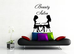 Wall Decal Beauty Salon Hair Salon Fashion Girl Woman by CozyDecal