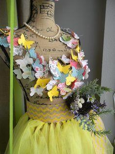 window display.   Butterfly dress