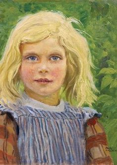Portrait of a Young Girl / Paul Gustave Fischer