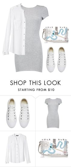 """""""Untitled #1102"""" by christawallace ❤ liked on Polyvore featuring Converse, Boohoo, Banana Republic and Dolce&Gabbana"""