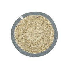 Ronde jute placemat grijs van jute en zeegras, een mooi natuurlijk materiaal voor een eerlijke prijs.